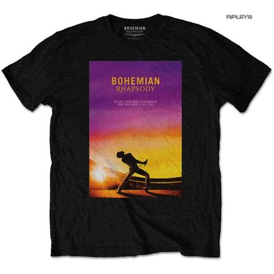 Official T Shirt QUEEN Bohemian Rhapsody Black MOVIE Poster All Sizes