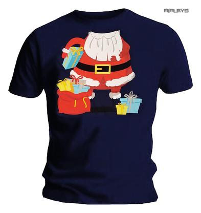 Official XMAS Navy Blue T Shirt Funny Gift SANTA Father Christmas Outfit Preview