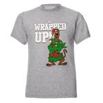 Official XMAS Light Grey T Shirt Gift SCOOBY DOO Christmas All Wrapped Up Thumbnail 1