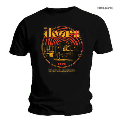 Official T Shirt Black THE DOORS Band '1968 Retro Circle Live' All Sizes