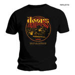 Official T Shirt Black THE DOORS Band '1968 Retro Circle Live' All Sizes Thumbnail 1