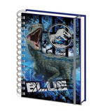 Official JURASSIC WORLD 3D Notebook Journal Stationery Gift BLUE Velociraptor  Thumbnail 2