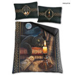 Spiral Direct BEDDING Duvet & Pillowcase THE WITCHING HOUR Cat  Double Thumbnail 1