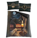 Spiral Direct BEDDING Duvet & Pillowcase THE WITCHING HOUR Cat  Double Thumbnail 2