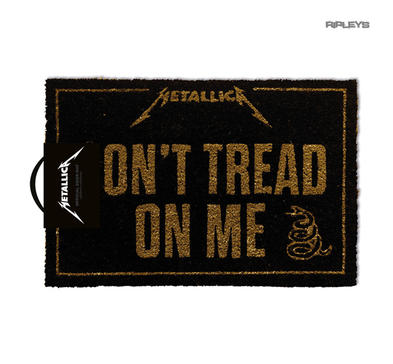 Official Coir Doormat Novelty Gift METALLICA Metal Don't Tread On Me