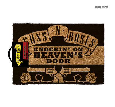 Official Coir Doormat Novelty Gift GUNS N ROSES Metal Knockin On Heavens Door