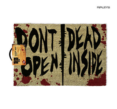 Official Doormat Novelty Gift THE WALKING DEAD Zombies Don't Open Dead Inside