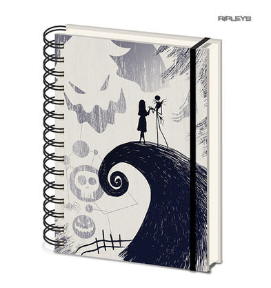 Official NIGHTMARE BEFORE CHRISTMAS Spiral Hill Notebook Journal Stationery Gift