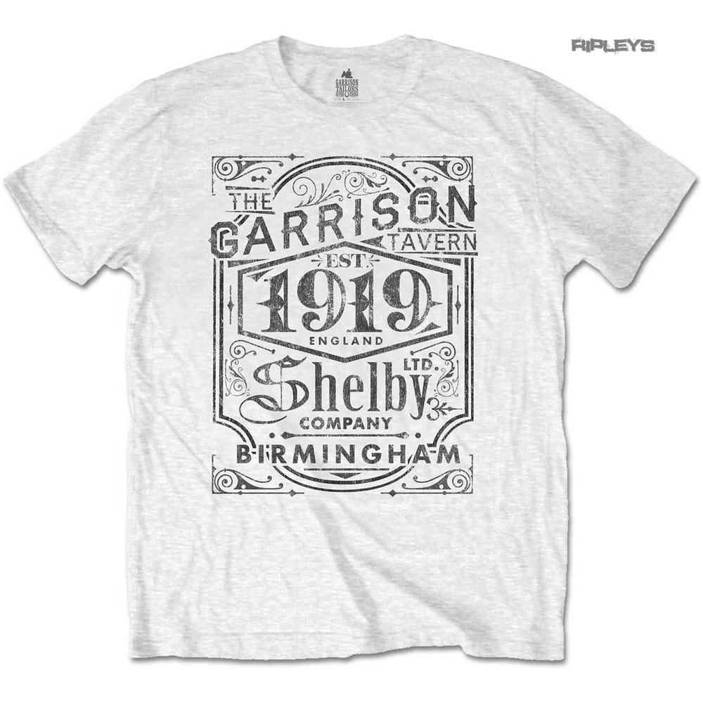 ffb6de64 Official T Shirt PEAKY BLINDERS Shelby Brothers 'Garrison Pub' White All  Sizes