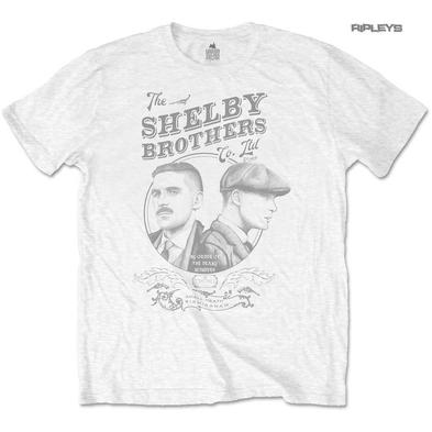 Official T Shirt PEAKY BLINDERS Shelby Brothers 'Circle Faces' White All Sizes