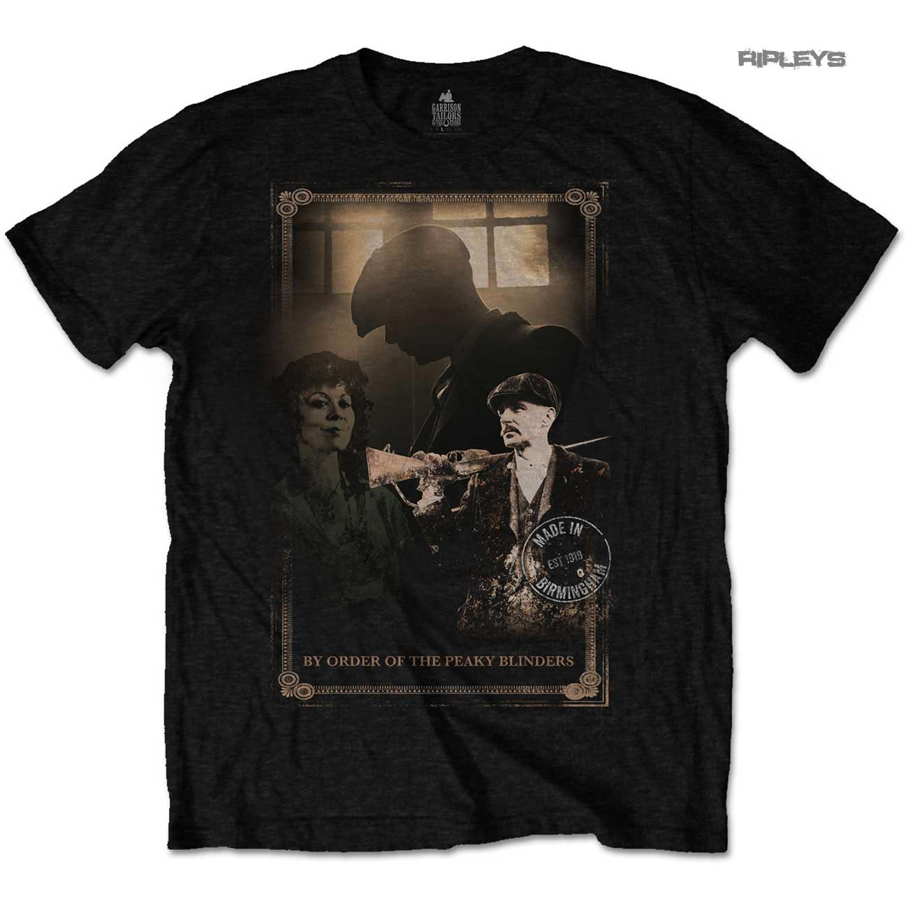 Official-T-Shirt-PEAKY-BLINDERS-Shelby-Brothers-039-Shotgun-039-Black-All-Sizes thumbnail 8