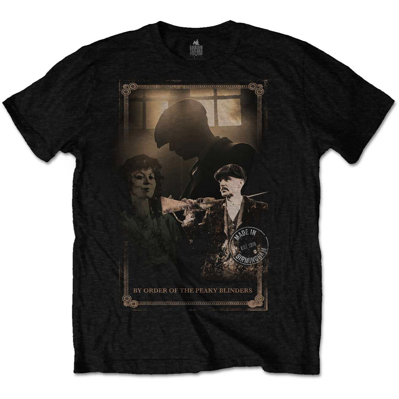 Official-T-Shirt-PEAKY-BLINDERS-Shelby-Brothers-039-Shotgun-039-Black-All-Sizes thumbnail 3