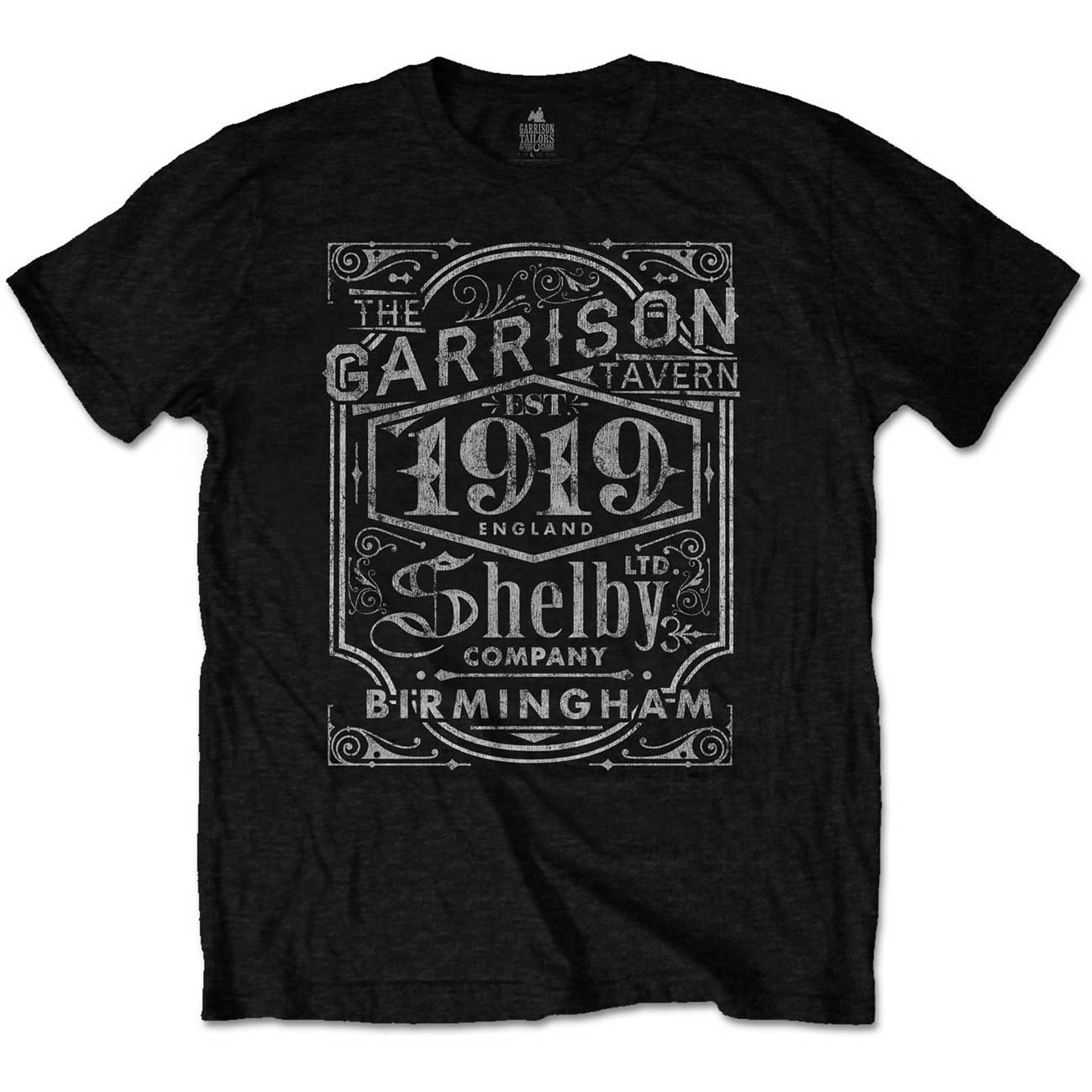 Official-T-Shirt-PEAKY-BLINDERS-Shelby-Brothers-039-Garrison-Pub-039-Black-All-Sizes thumbnail 3
