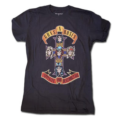 Official T Shirt GUNS N ROSES Appetite For Destruction TOUR '87 All Sizes