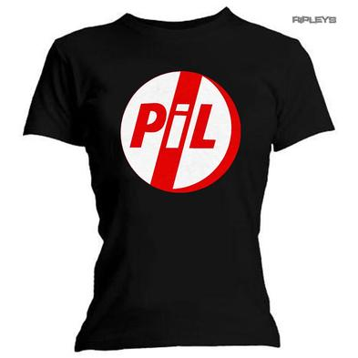 Official Ladies Skinny T Shirt Top PIL Classic Red Logo All Sizes