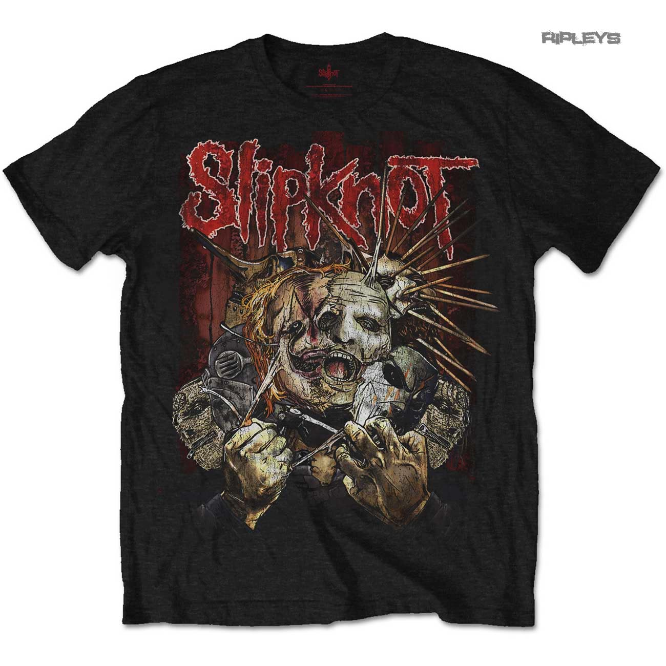 Official-T-Shirt-SLIPKNOT-Metal-The-Gray-Chapter-039-Torn-Apart-039-All-Sizes thumbnail 2