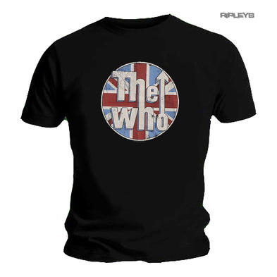 Official T Shirt THE WHO Vintage Logo 'Union Jack' Circle