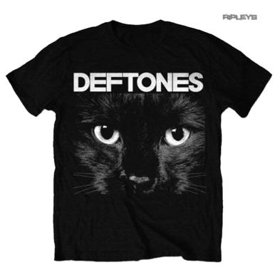 Official T Shirt Metal DEFTONES Black 'Sphynx' Cat Eyes All Sizes