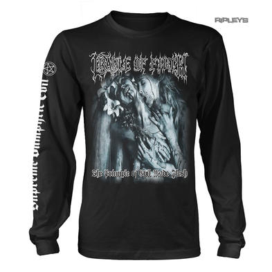 Official L Sleeve T Shirt Cradle of Filth Metal 'Evil Made Flesh' Album All Size