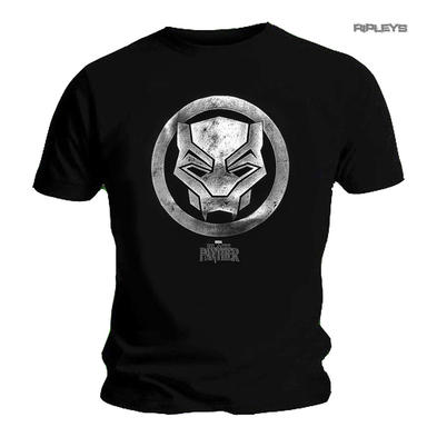 Official Unisex T Shirt BLACK PANTHER Marvel Comics FOIL Logo All Sizes