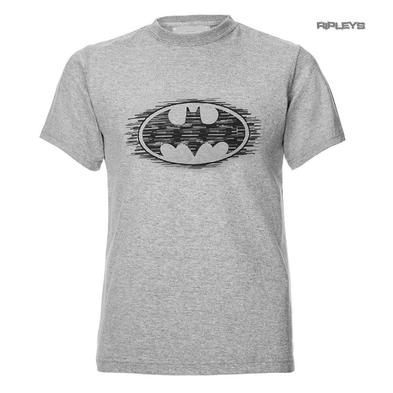 Official T Shirt DC Comics BATMAN DC Comics Light Grey 'Dashed Logo'