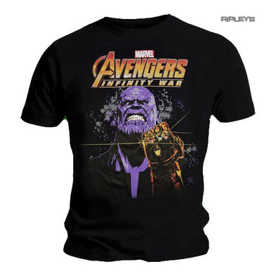 Official T Shirt MARVEL Comics Avengers Logo THANOS Infinity War