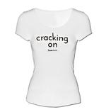 Official Ladies Skinny Scoop T Shirt LOVE ISLAND Sparkle 'Cracking On' White Thumbnail 2