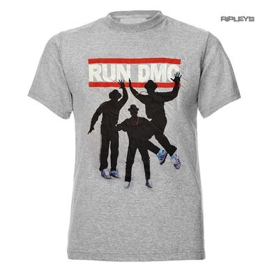 Official T Shirt RUN DMC Rap Rock & Roll Heroes 'Silhouettes' Grey