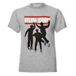Official T Shirt RUN DMC Rap Rock & Roll Heroes 'Silhouettes' Grey Thumbnail 2