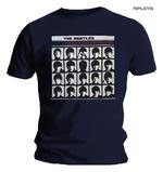 Official T Shirt The Beatles Navy Blue 'Hard Days Night' Album Cover Thumbnail 1