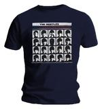 Official T Shirt The Beatles Navy Blue 'Hard Days Night' Album Cover Thumbnail 2