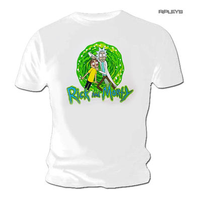 Official T Shirt RICK & MORTY White 'Look At That Thing!'