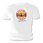 Official T Shirt GUNS N ROSES White Los Angeles 'LA 1989' Tour Date Thumbnail 2