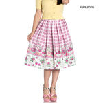 Hell Bunny 50s Vintage Skirt STRAWBERRY Shortcake Pink Gingham All Sizes Thumbnail 1