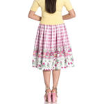 Hell Bunny 50s Vintage Skirt STRAWBERRY Shortcake Pink Gingham All Sizes Thumbnail 4