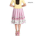Hell Bunny 50s Vintage Skirt STRAWBERRY Shortcake Pink Gingham All Sizes Thumbnail 3