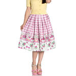 Hell Bunny 50s Vintage Skirt STRAWBERRY Shortcake Pink Gingham All Sizes Thumbnail 2