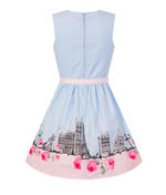 Hell Bunny 50s Vintage Blue Polka Dot PANAME Mini Dress Paris All Sizes Thumbnail 6