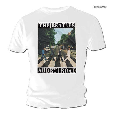 Official T Shirt The Beatles Vintage ABBEY ROAD Album Cover White All Sizes