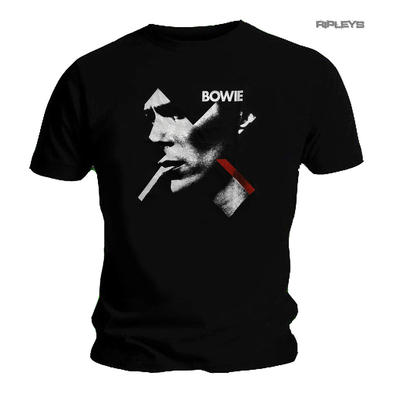 Official T Shirt DAVID BOWIE Black Smoking Portrait 'X Face' Logo All Sizes