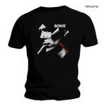 Official T Shirt DAVID BOWIE Black Smoking Portrait 'X Face' Logo All Sizes Thumbnail 1