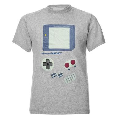 Official Gaming T Shirt Grey Nintendo 'GAMEBOY Screen' Retro Classic