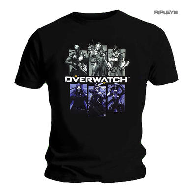 Official Gaming T Shirt Blizzard OVERWATCH Video Game 'Characters'