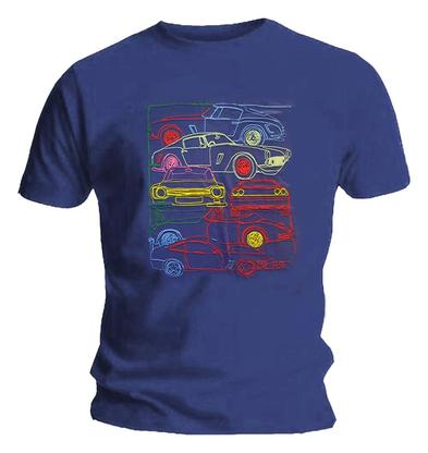 Official Unisex T Shirt C4R-FEST CarFest Blue Motoring Festival Cars Preview