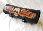 HT's 100% Handmade Genuine Leather TOOL ROLL Bag Motorcycle Bike SKULLS Thumbnail 7