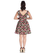 Hell Bunny 50s Vintage Black Mini STRAWBERRY SUNDAE Dress Flowers All Sizes Thumbnail 4