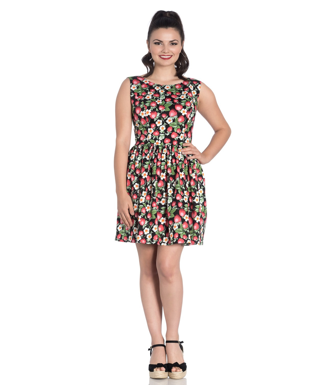 Hell-Bunny-50s-Vintage-Black-Mini-STRAWBERRY-SUNDAE-Dress-Flowers-All-Sizes thumbnail 7