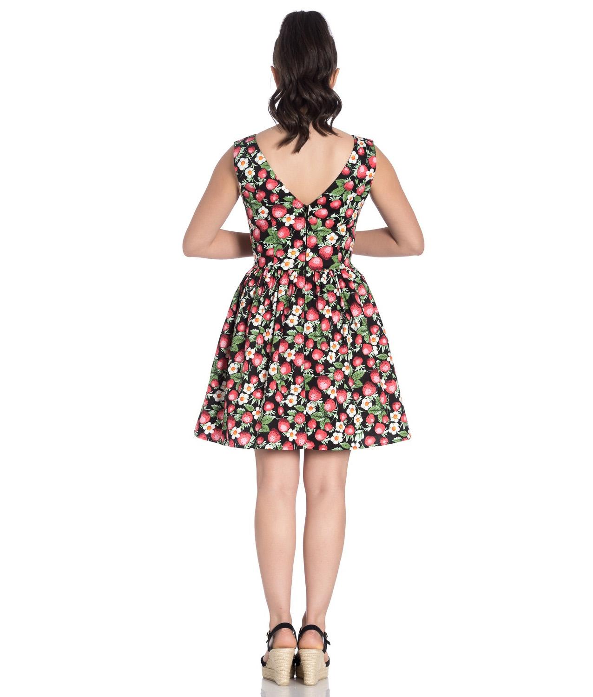 Hell-Bunny-50s-Vintage-Black-Mini-STRAWBERRY-SUNDAE-Dress-Flowers-All-Sizes thumbnail 5
