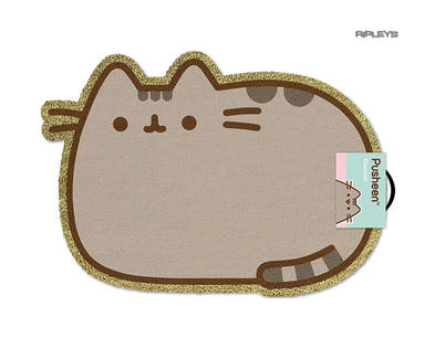 Official Coir Shaped Doormat Novelty Gift PUSHEEN Emoji Cat Kitten