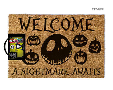 Official Coir Doormat Novelty Gift Nightmare Before Christmas NIGHTMARE Jack
